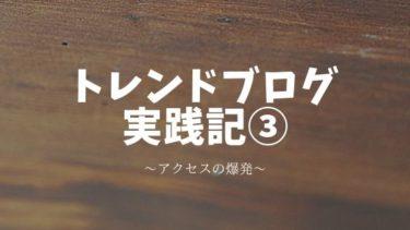 トレンドブログ実践記③アクセスの爆発!